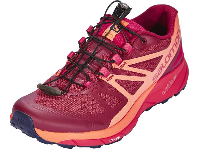 Salomon Sense Ride Running Shoes Damen sangria/living coral/virtual pink